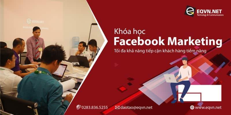 Banner khóa học quảng cáo Faceobok Marketing tại trung tâm eqvn