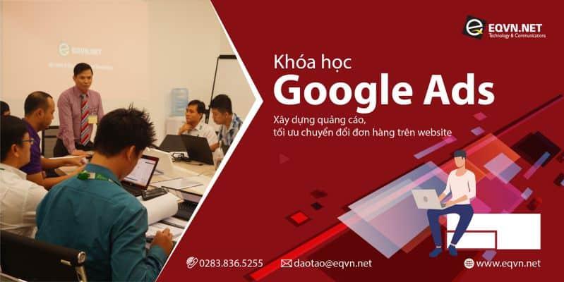 Banner khóa học quảng cáo google ads tại trung tâm đào tạo digital marketing eqvn