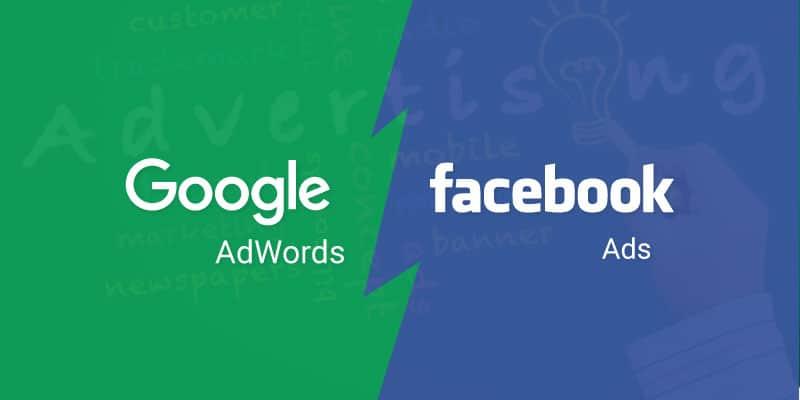 Quảng cáo Google và quảng cáo Facebook