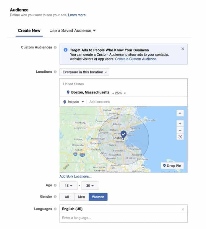 đối tượng facebook marketing