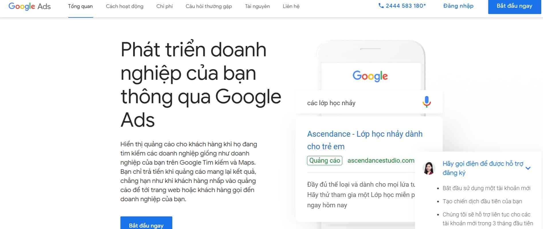 Hình ảnh tạo tài khoản Google Ads