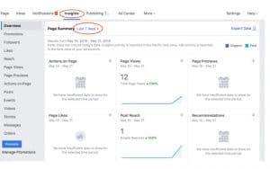 sử dụng page insight để theo dõi hoạt động đo lường trong facebook marketing