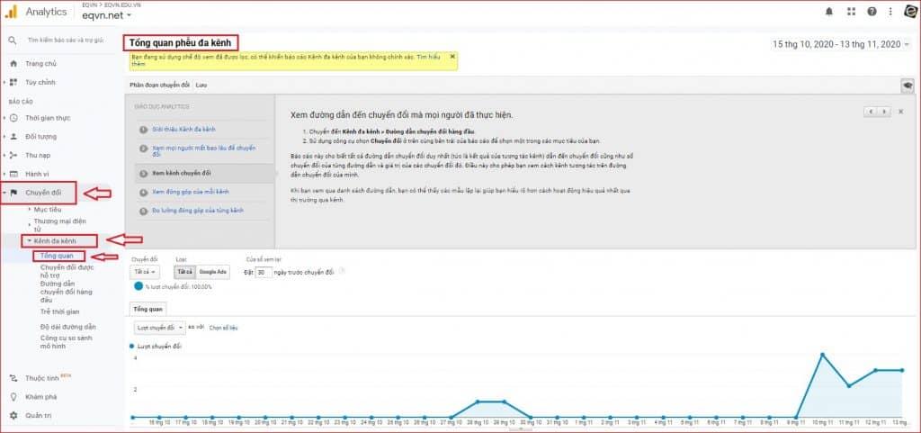 Truy cập google analytics