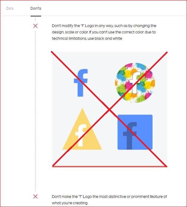 facebook logo policy