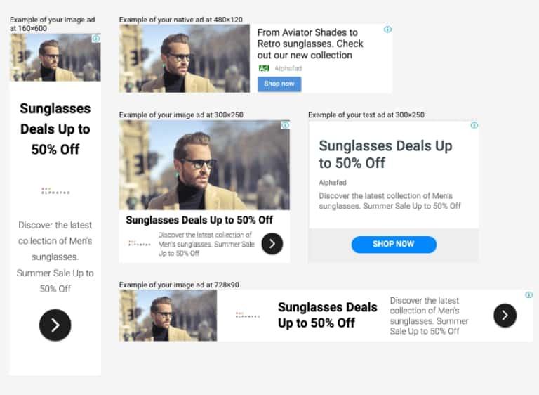 quảng cáo thích ứng google